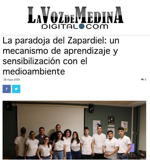 La paradoja del Zapardiel y nuestro proyecto en los medios